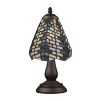 ELK 080-TB-20 Mix-N-Match 13 inch 60 watt Tiffany Bronze Table Lamp Portable Light in Tiffany 20 Glass photo thumbnail