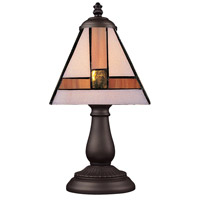 ELK 080-TB-01 Mix-N-Match 13 inch 25 watt Tiffany Bronze Table Lamp Portable Light in Tiffany 01 Glass