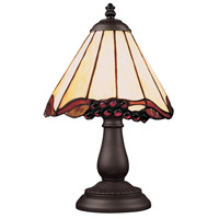 ELK 080-TB-03 Mix-N-Match 13 inch 25 watt Tiffany Bronze Table Lamp Portable Light in Tiffany 03 Glass