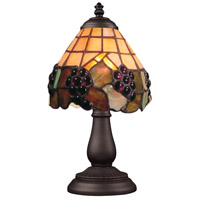 ELK 080-TB-07 Mix-N-Match 13 inch 25 watt Tiffany Bronze Table Lamp Portable Light in Tiffany 07 Glass