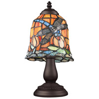 Mix-N-Match 13 inch 60 watt Tiffany Bronze Table Lamp Portable Light in Tiffany 12 Glass