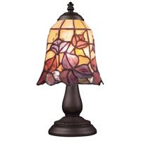 Mix-N-Match 13 inch 60 watt Tiffany Bronze Table Lamp Portable Light in Tiffany 17 Glass