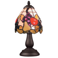 ELK 080-TB-19 Mix-N-Match 13 inch 25 watt Tiffany Bronze Table Lamp Portable Light in Tiffany 19 Glass