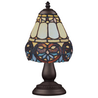 ELK 080-TB-21 Mix-N-Match 13 inch 25 watt Tiffany Bronze Table Lamp Portable Light in Tiffany 21 Glass