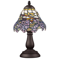 ELK 080-TB-28 Mix-N-Match 13 inch 25 watt Tiffany Bronze Table Lamp Portable Light in Tiffany 28 Glass