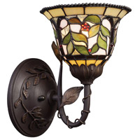 Latham 1 Light 7 inch Tiffany Bronze Wall Sconce Wall Light