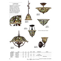 ELK 08015-TBH Latham 3 Light 16 inch Tiffany Bronze Semi Flush Mount Ceiling Light alternative photo thumbnail