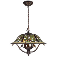 Latham 3 Light 21 inch Tiffany Bronze Chandelier Ceiling Light