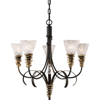 ELK Lighting Equinox 5 Light Chandelier in Black W/ Gold Highlights 08046-BKG photo thumbnail