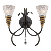 ELK Lighting Equinox 2 Light Wall Sconce in Black W/ Gold Highlights 08049-BKG