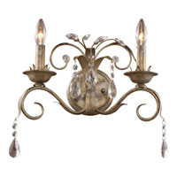 ELK Lighting Angelite 2 Light Wall Sconce in Weathered Silver 08082-WS