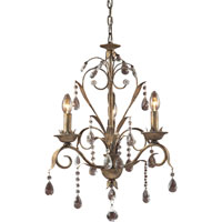 ELK Lighting Angelite 3 Light Chandelier in Weathered Silver 08083-WS