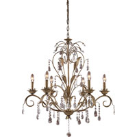 ELK Lighting Angelite 6 Light Chandelier in Weathered Silver 08086-WS