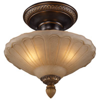 ELK 08092-AGB Restoration 3 Light 12 inch Golden Bronze Semi Flush Mount Ceiling Light