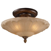 Restoration 4 Light 20 inch Golden Bronze Semi Flush Mount Ceiling Light