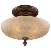 ELK 08095-AGB Restoration 4 Light 19 inch Golden Bronze Semi Flush Mount Ceiling Light