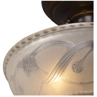 ELK 08098-AGB Restoration 3 Light 11 inch Golden Bronze Semi Flush Mount Ceiling Light in Standard alternative photo thumbnail