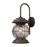 ELK Lighting Manchester 1 Light Outdoor Sconce in Burnt Bronze 08171-BB