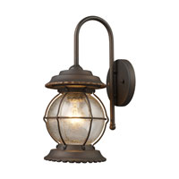 ELK Lighting Manchester 1 Light Outdoor Sconce in Burnt Bronze 08172-BB