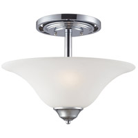 OLIVIA 3 Light 18 inch Polished Chrome Semi-Flush Mount Ceiling Light