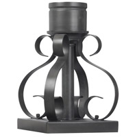 Outdoor Accessory 10 inch Charcoal Scroll Pier Base Mounting
