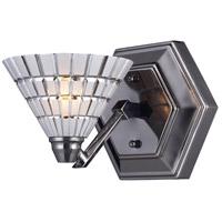 ELK 10043/1 Viseu 1 Light 6 inch Black Chrome Sconce Wall Light