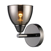 ELK Lighting Reflections 1 Light Sconce in Black Chrome 10050/1