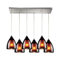 ELK Lighting Reflections 6 Light Pendant in Satin Nickel 10053/6RC
