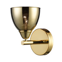 ELK Lighting Reflections 1 Light Sconce in Polished Gold 10060/1