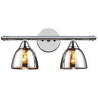 ELK 10071/2 Reflections 2 Light 18 inch Polished Chrome Vanity Wall Light photo thumbnail