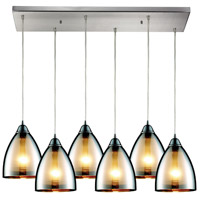 ELK Lighting Reflections 6 Light Pendant in Satin Nickel 10073/6RC