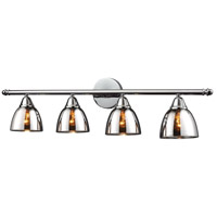 Reflections 4 Light 33 inch Polished Chrome Vanity Wall Light