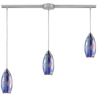 ELK Lighting Iridescence 3 Light Pendant in Satin Nickel 10076/3L-SBI