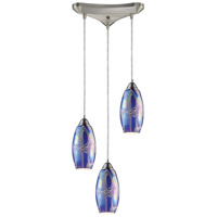ELK Lighting Iridescence 3 Light Pendant in Satin Nickel 10076/3SBI