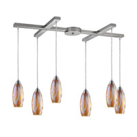 ELK Lighting Iridescence 6 Light Pendant in Satin Nickel 10076/6GI