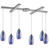 ELK Lighting Iridescence 6 Light Pendant in Satin Nickel 10076/6SBI