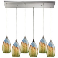 ELK 10077/6RC-LED Geologic LED 9 inch Satin Nickel Pendant Ceiling Light
