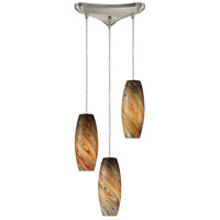 ELK Lighting Vortex 3 Light Pendant in Satin Nickel 10079/3RV