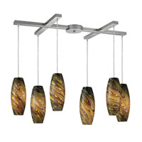 ELK Lighting Vortex 6 Light Pendant in Satin Nickel 10079/6CV