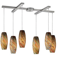 ELK Lighting Vortex 6 Light Pendant in Satin Nickel 10079/6RV