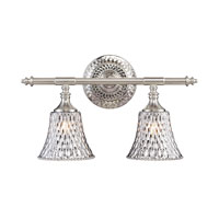 Victoriana 2 Light 16 inch Satin Nickel Vanity Wall Light