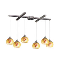 ELK Lighting Mela 6 Light Pendant in Satin Nickel 101-6YW
