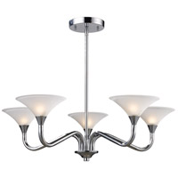 JENSON 5 Light 28 inch Polished Chrome Chandelier Ceiling Light