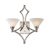 ELK Lighting Gilcrest 2 Light Sconce in Polished Nickel 10103/2 photo thumbnail