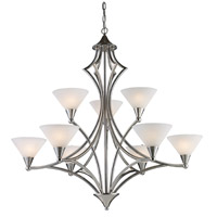 ELK Lighting Gilcrest 9 Light Chandelier in Polished Nickel 10105/6+3