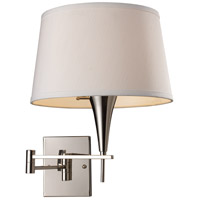 ELK Lighting Swingarm 1 Light Swingarm Sconce in Polished Chrome 10108/1 photo thumbnail