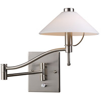 ELK Lighting Swingarm 1 Light Swingarm Sconce in Satin Nickel 10112/1