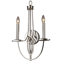 ELK Lighting Dione 2 Light Sconce in Polished Nickel 10113/2 photo thumbnail
