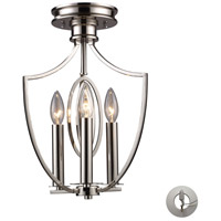 ELK Lighting Dione 3 Light Semi-Flush Mount in Polished Nickel 10119/3-LA