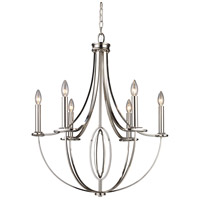 Dione 6 Light 25 inch Polished Nickel Chandelier Ceiling Light